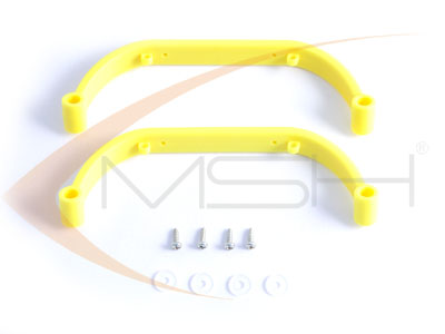 Gorilla Gear Landing Skids - Yellow (Low Profile) - T-REX450