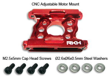 CNC Adjustable Motor Mount (Red) - Trex450Pro/Trex450Pro V2