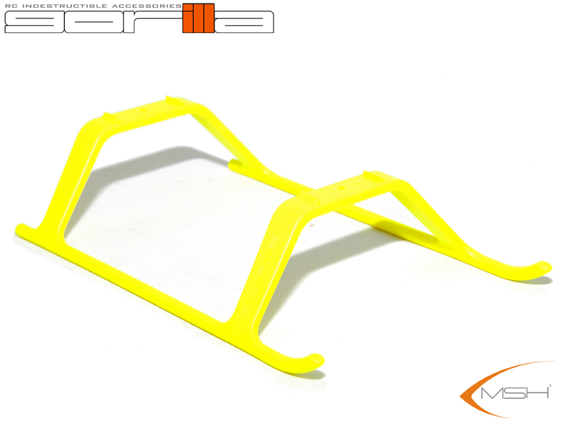 Gorilla Gear Landing Skids - Yellow - T-REX450Pro/Mini Protos