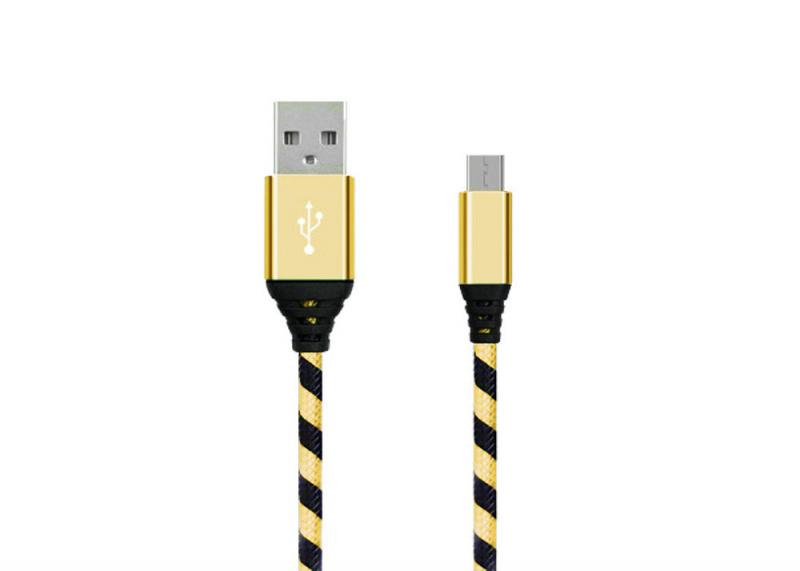 TBS Micro USB Cable - Black/Gold