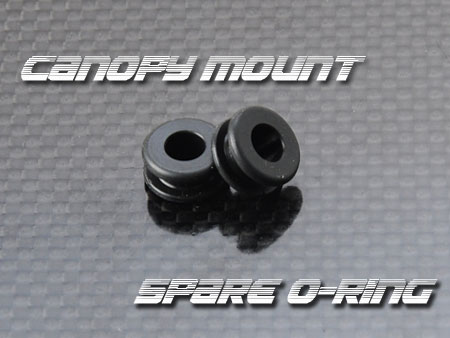 Heli Option Quick ChangeCanopy Mount用Spare O-ring - 2 pcs
