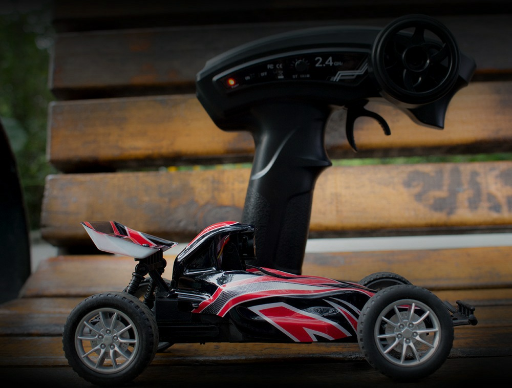 EMAX Interceptor RWD FPV RC Car with Goggles Full Set