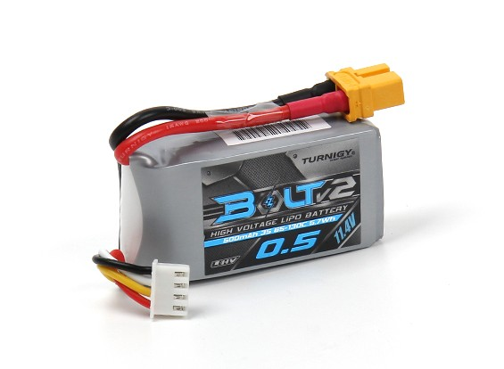 Turnigy Bolt V2 500mAh 3S 11.4V 65-130C High Voltage Lipo (LiHV)