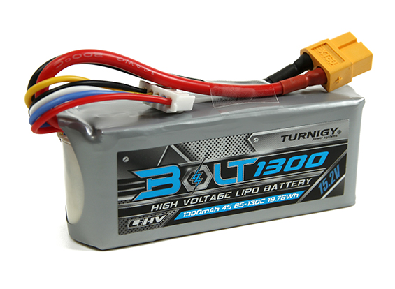 Turnigy Bolt 1300mAh 4S 15.2V 65-130C High Voltage Lipoly Pack (