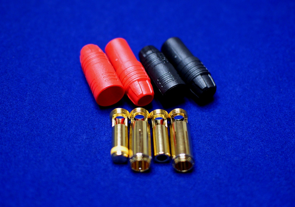 7mm AX150 Anti Spark Self Insulating Gold Bullet Connector 1set