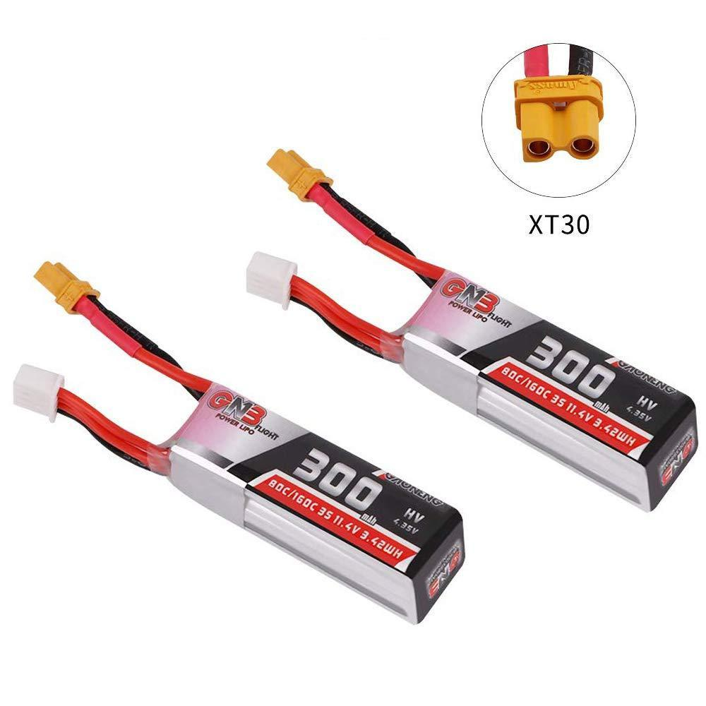 GAONENG HV Lipo Battery 3S 300mAh(80C) 2pack