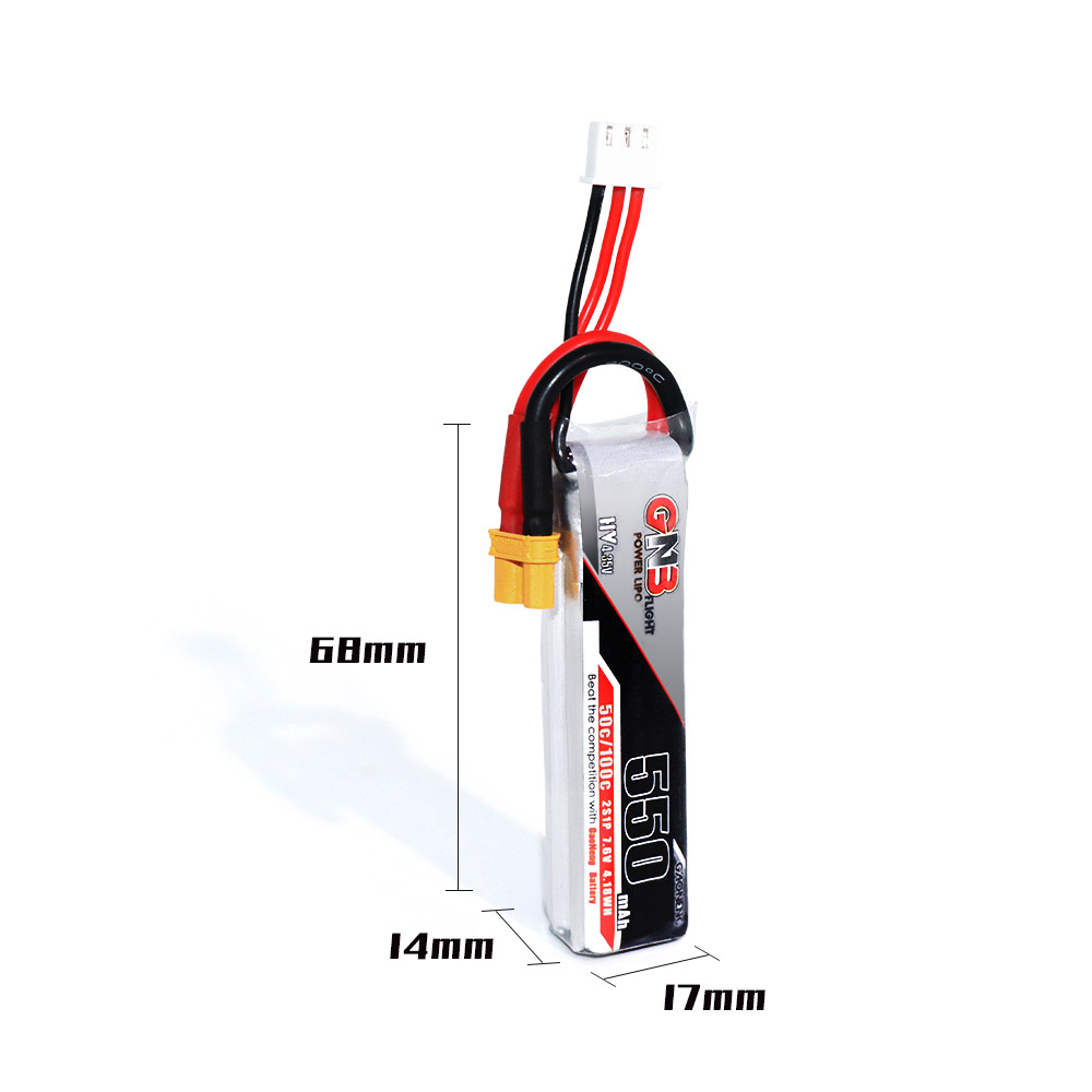 GAONENG HV Lipo Battery 2S 550mAh(50C) 2pack