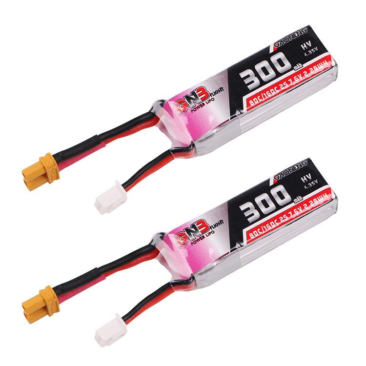 GAONENG HV Lipo Battery 2S 300mAh(80C) 2pack