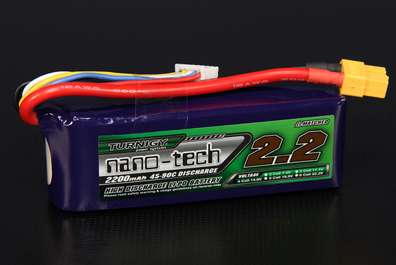 Turnigy nano-tech 4S 2200mah 35-70C Lipo Pack