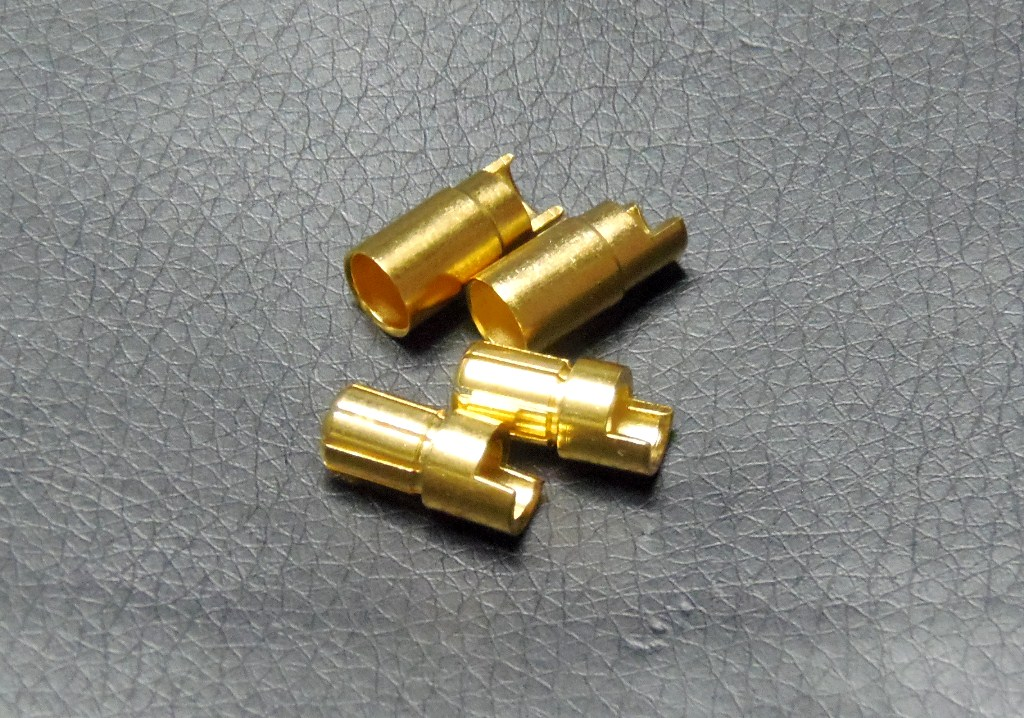 6mm Gold connectors ショート(2pcs)