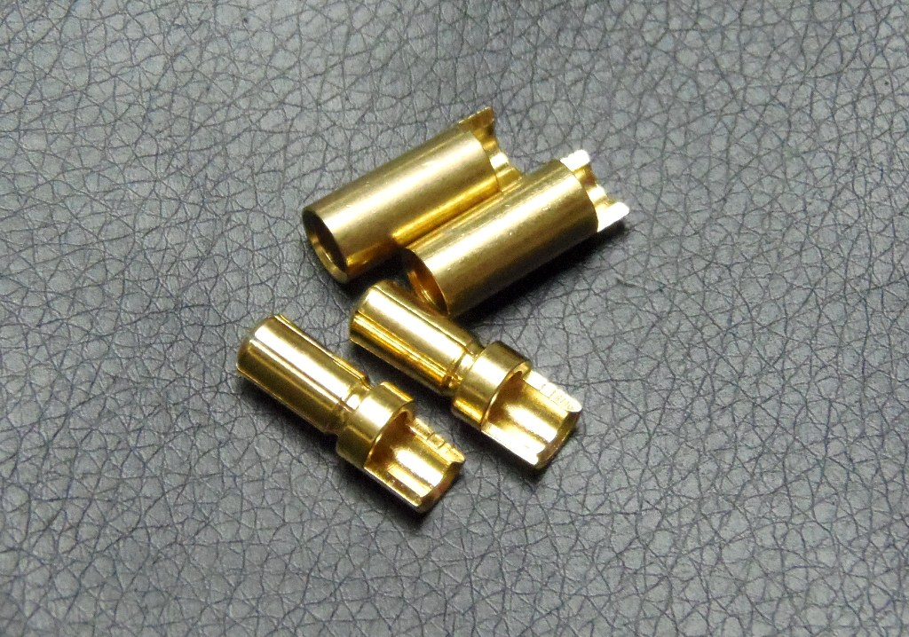 6mm Gold connectors(2pcs)