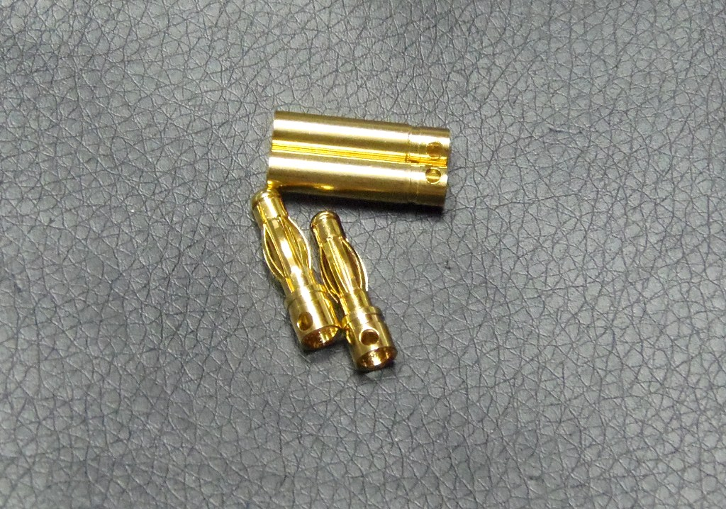 4mm Gold Banana connectors(2pcs)