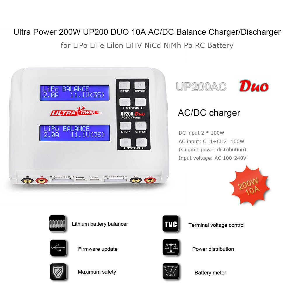 Ultra Power UP200 DUO AC/DC Charger
