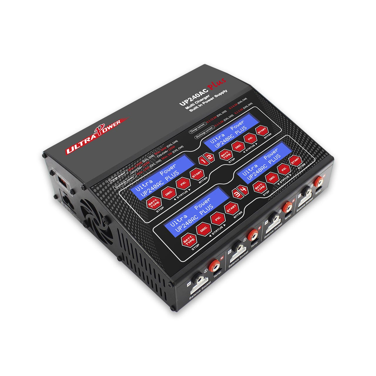 Ultra Power UP240AC Plus 4x60W Four Channels AC/DC Charger