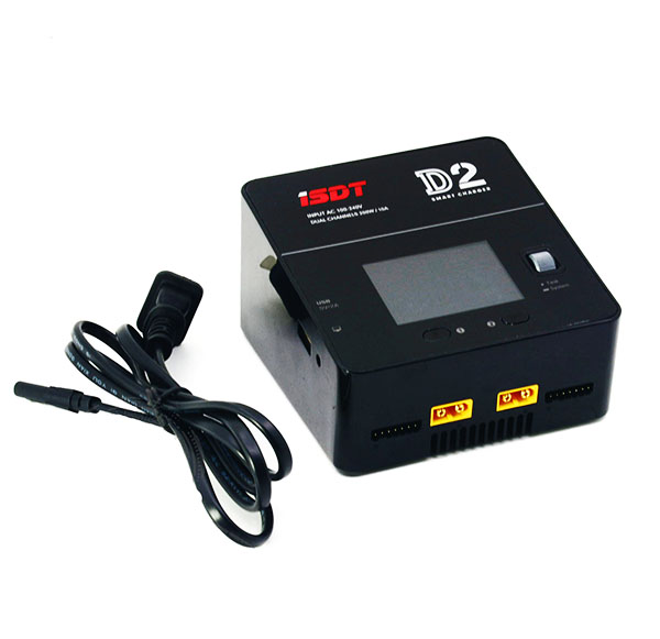 iSDT D2 AC 100-240V Input 200W x2 12A 1-6S Smart Charger W/ USB