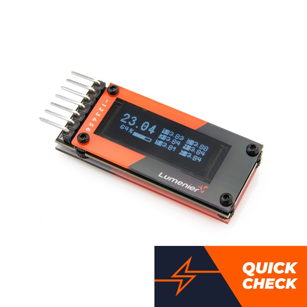Lumenier Quick Check - Battery Cell Checker 1-6s (OLED Screen)