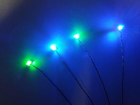 4 LED Harness of Tiny Whoop LED - 2Blue 2Green