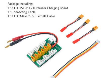 XT30 Parallel Charging Board for 6 Packs 1〜3S