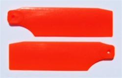 KBDD T-Rex 450Pro Neon Tail Blades - Neon Orange