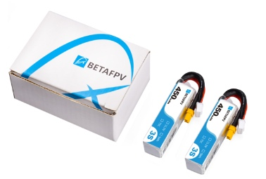 Beta FPV 450mAh 3S 75C Lipo Battery(XT30) 2pcs