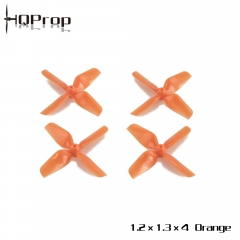 HQ Micro Whoop Prop 1.2X1.3X4 Orange (2CW+2CCW)-ABS-1.0MM Shaft