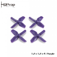 HQ Micro Whoop Prop 1.2X1.2X4 Purple (2CW+2CCW)-ABS-0.8MM Shaft