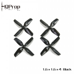 HQ Micro Whoop Prop 1.6X1.6X4 Black (2CW+2CCW)-ABS-1.5MM Shaft