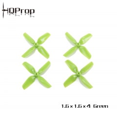 HQ Micro Whoop Prop 1.6X1.6X4 Green (2CW+2CCW)-ABS-1.5MM Shaft
