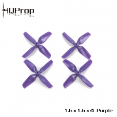 HQ Micro Whoop Prop 1.6X1.6X4 Purple (2CW+2CCW)-ABS-1.5MM Shaft