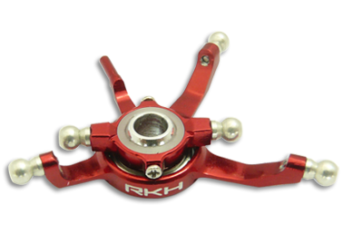 CNC AL Swashplate Set (Red) - Blade 130X