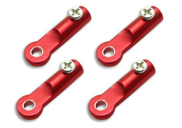 CNC AL Tail Boom Support End Set (Red) - Blade 130X