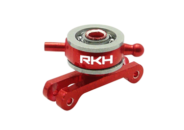 CNC AL Double Bearing Tail Pitch Slider Set (Red) - Blade 130X