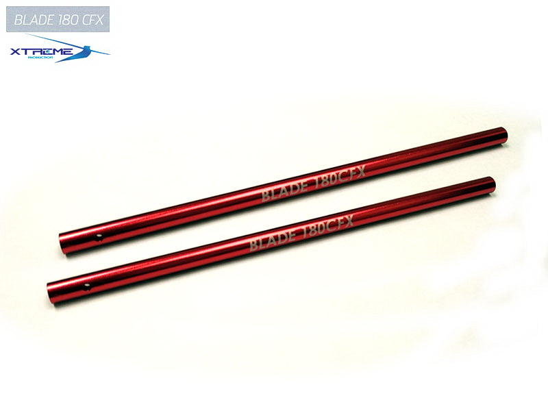 Xtreme Aluminium Tail Boom -B180CFX (Red, 2 pcs)