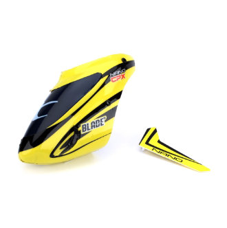 BLH3318 Complete Yellow Canopy with Vertical Fin Nano CP X