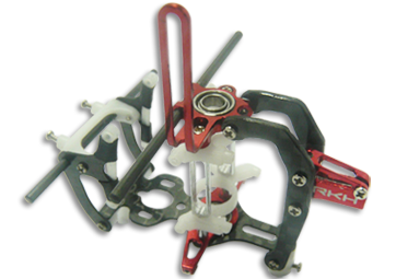 CNC CF Main Frame V2 (Black-Red) - Blade mCP X