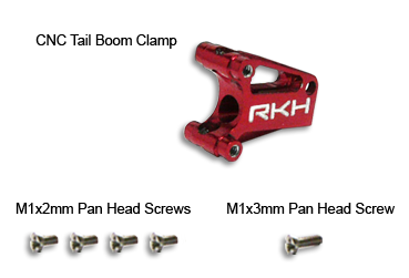 CNC Tail Boom Mount (Red) - Blade mCP X