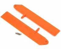 BLH3511OR Fast Flight Main Rotor Blade Set Orange w/Hardware: mC