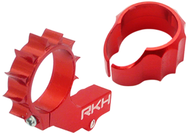 CNC AL 8mm Tail Motor Mount w/Protection Set (Red) - Blade mCPXB