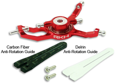 CNC AL Advanced Swashplate Set (Red) - Blade Nano CPX