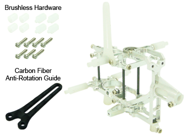 CNC AL Advanced Main Frame Set (Silver) - Blade Nano CPX
