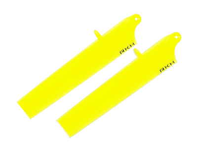 RKH Bullet Plastic Main Blade 89mm-Yellow - Blade Nano CPX