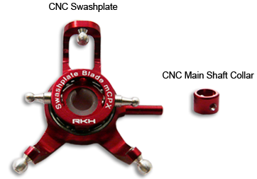 CNC Swashplate V2 and Collar (Red) - Blade mCP X