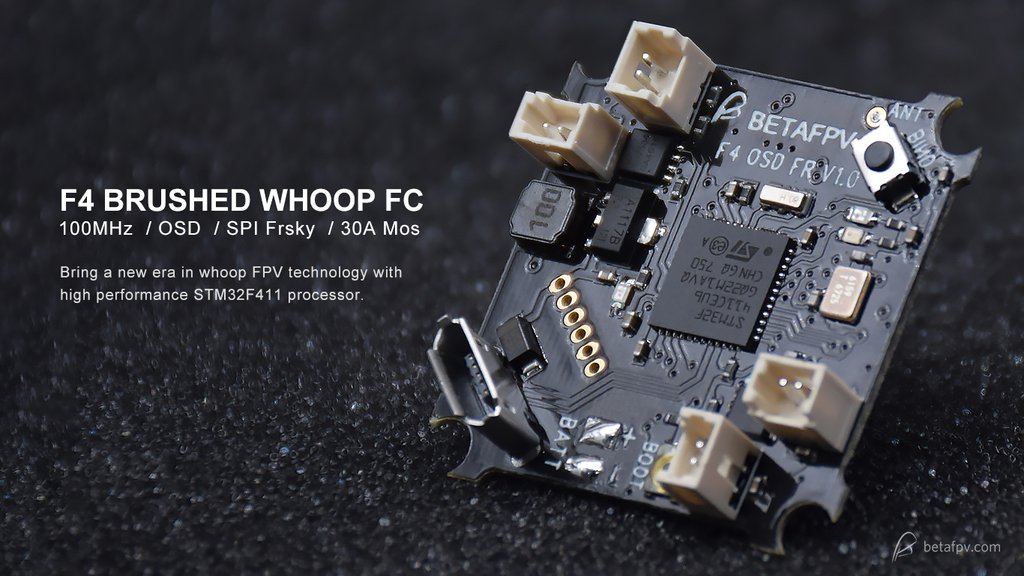 Beta FPV F4 Brushed Flight Controller(SFHSS Rx + OSD)