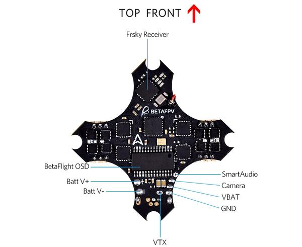 BETA FPV F4 1S Brushless Flight Controller V2.2 (SFHSS RX+OSD)