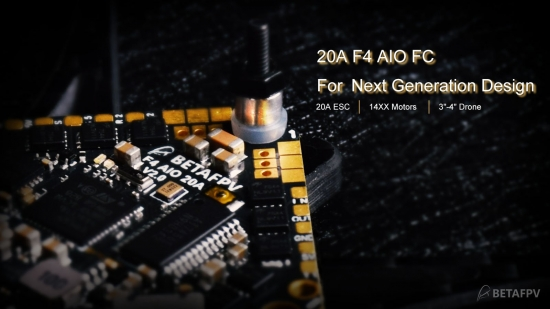 BETA FPV Toothpick F4 2-4S 20A Brushless Flight Controller (コネクタ