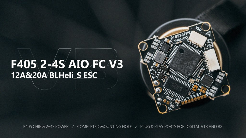 BETA FPV F405 12A 2-4S AIO Brushless Flight Controller (BLHeli_S
