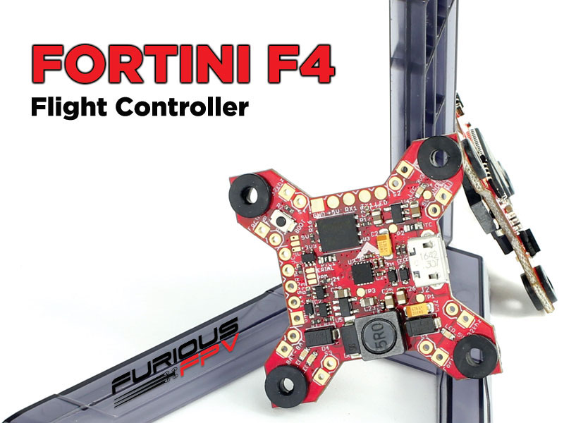 Furious FORTINI F4 32Khz 16MB Black Box Flight Controller