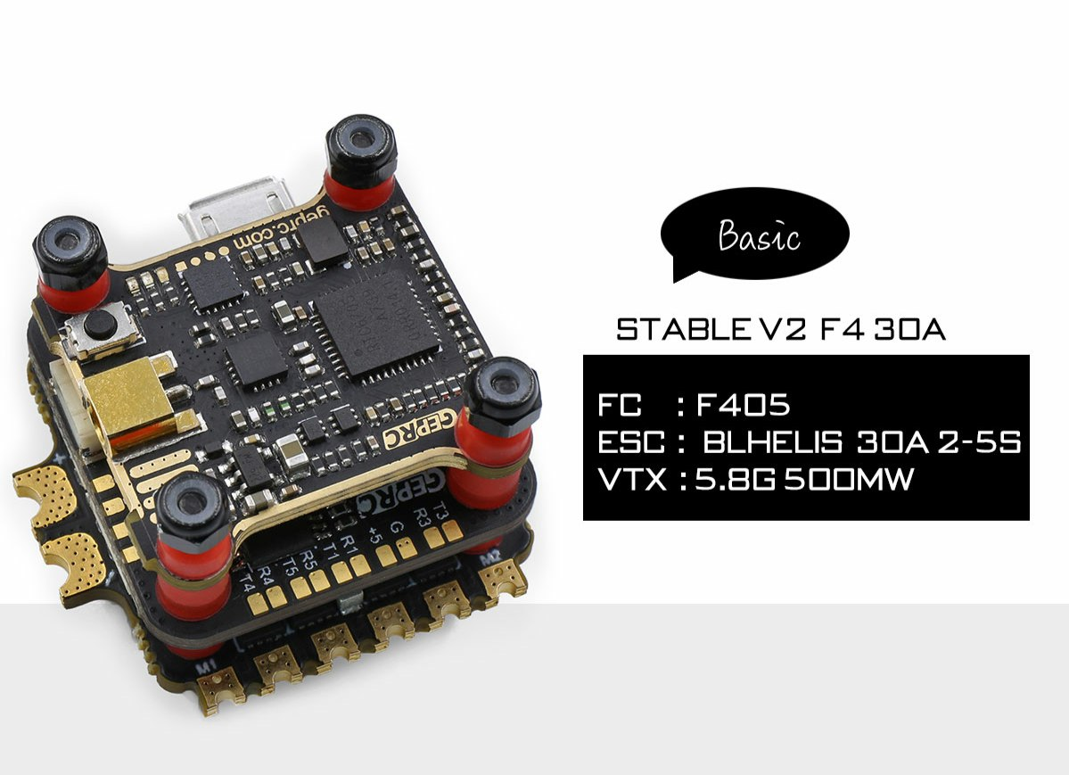 GEPRC Stable V2 F4 + 30A ESC + VTX500mW Mini Tower
