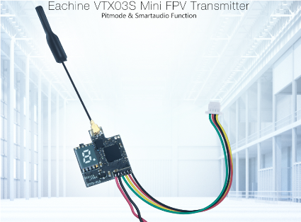 Eachine VTX03S 5.8G 40CH 0/25mW/50mw/200mW With PITmode Smartaud