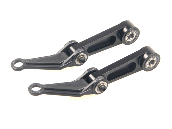 R50N575-4 OUTRAGE Lower Mixing Arms CNC Set for Flybarless Head